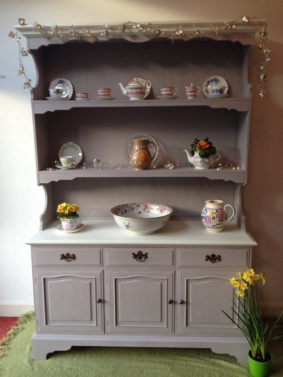 10 Pretty Annie Sloan Painted Furniture Ideas stunning large welsh dresserhand painted in annie sloan paloma and 2020