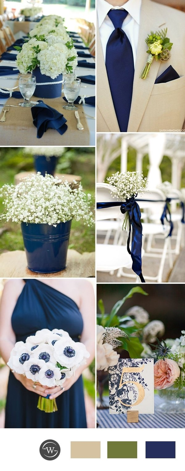 10 Beautiful Blue And Green Wedding Ideas stunning navy blue wedding color combo ideas for 2017 trends 2 2020
