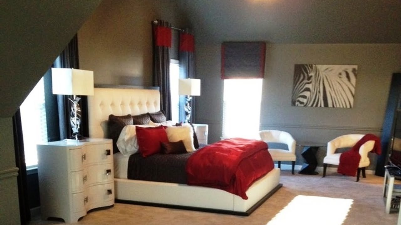 stunning red, black and white bedroom decorating ideas - youtube