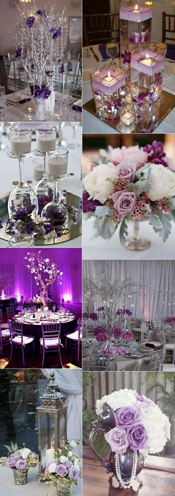 10 Fabulous Purple And Silver Wedding Ideas stunning wedding color ideas in shades of purple and silver silver
