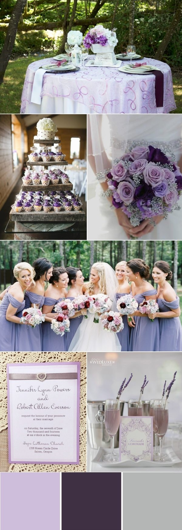 10 Fabulous Purple And Silver Wedding Ideas stunning wedding color ideas in shades of purple and silver