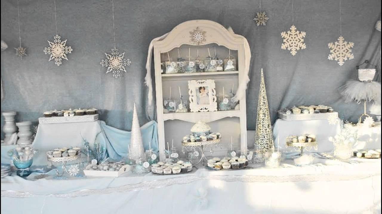 stunning winter wonderland birthday party ideas - youtube