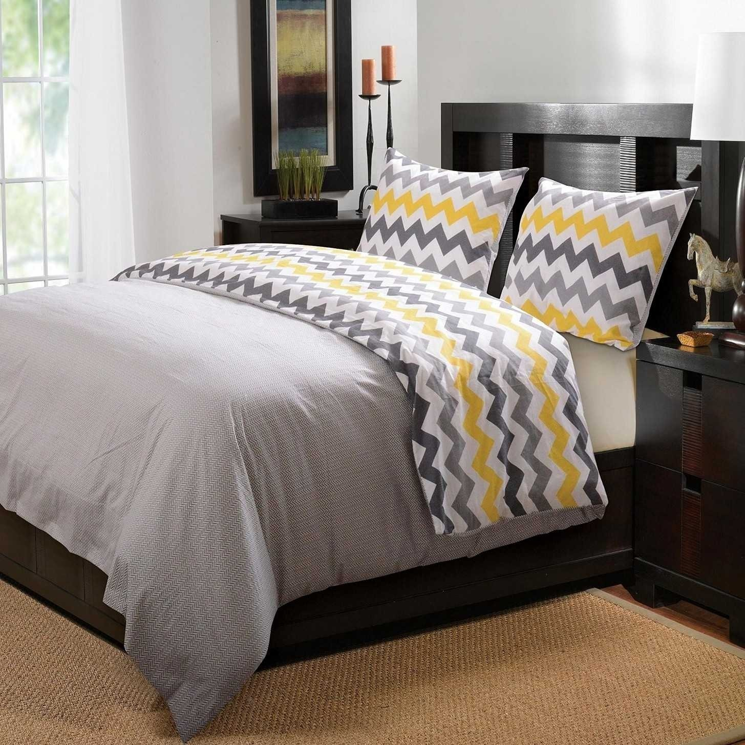 10 Attractive Yellow And Gray Bedroom Ideas stunning yellow gray and white bedroom ideas also bathrooms shower 2020