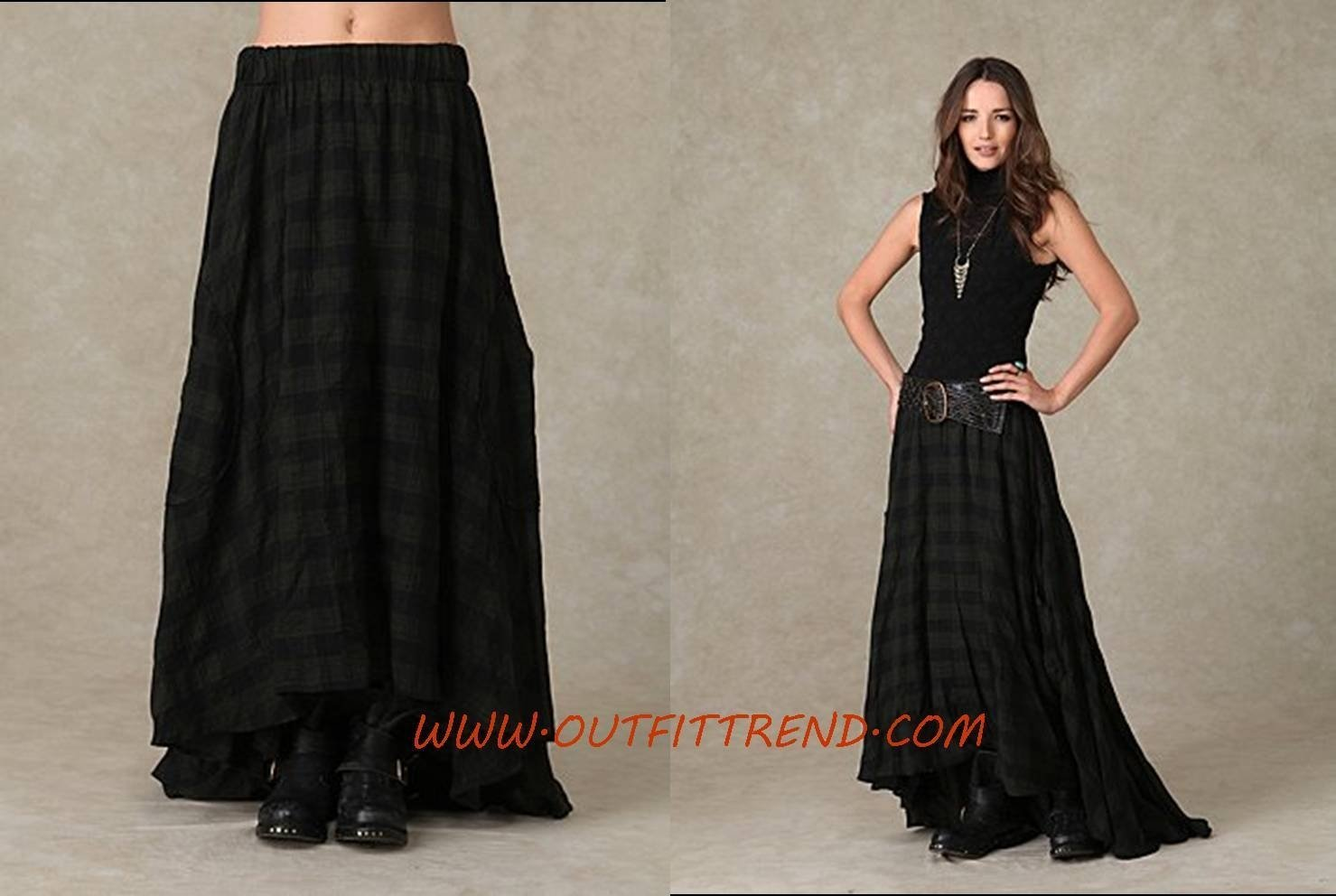 10 Awesome Long Black Skirt Outfit Ideas stylish and trendy maxi skirts for women 2020