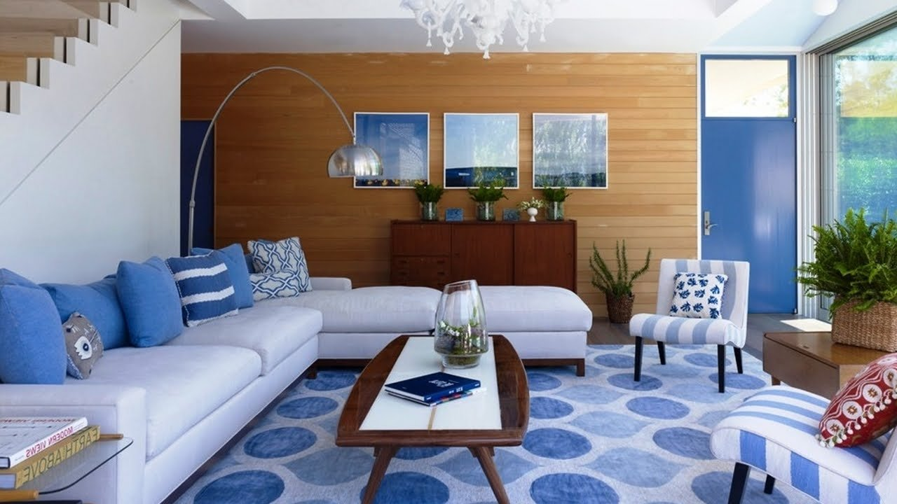 10 Stunning Blue And White Living Room Ideas sublime blue white living room design ideas youtube 2021