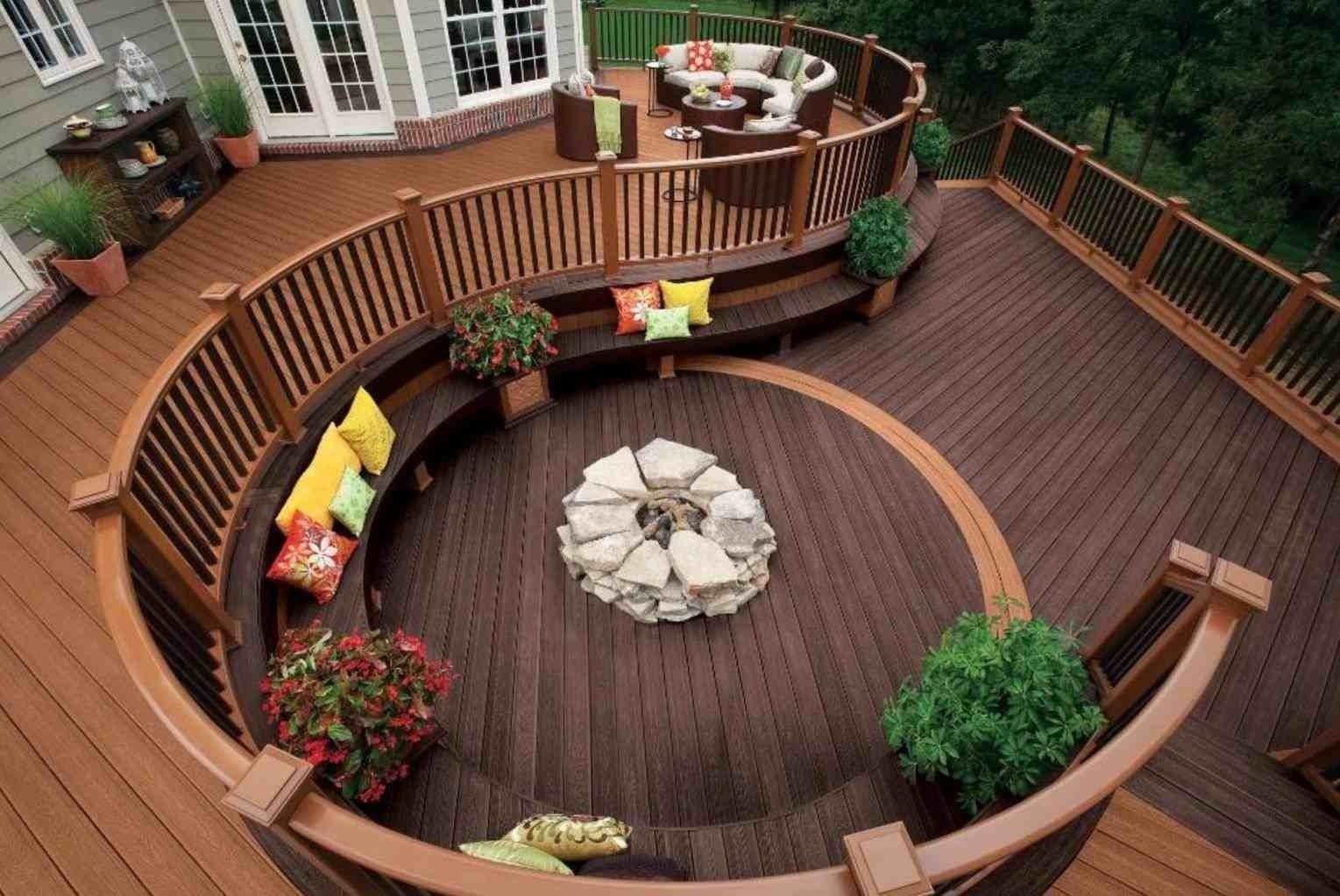 10 Stylish Deck Ideas With Fire Pit successful deck fire pit ideas pinterest djkambennettgraphics deck 2021