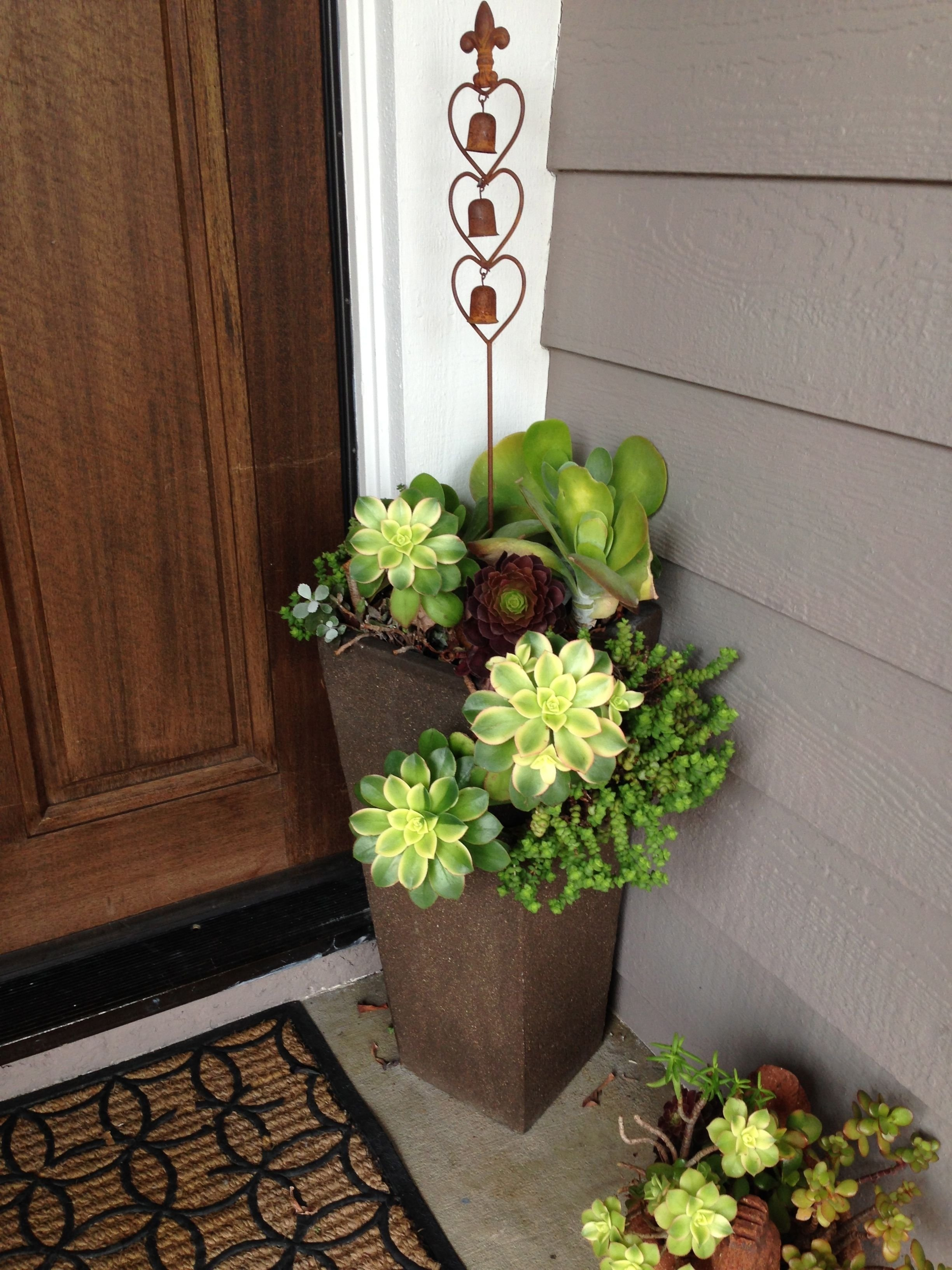 10 Awesome Planter Ideas For Front Porch succulent front door planters nursery pinterest front door 2021