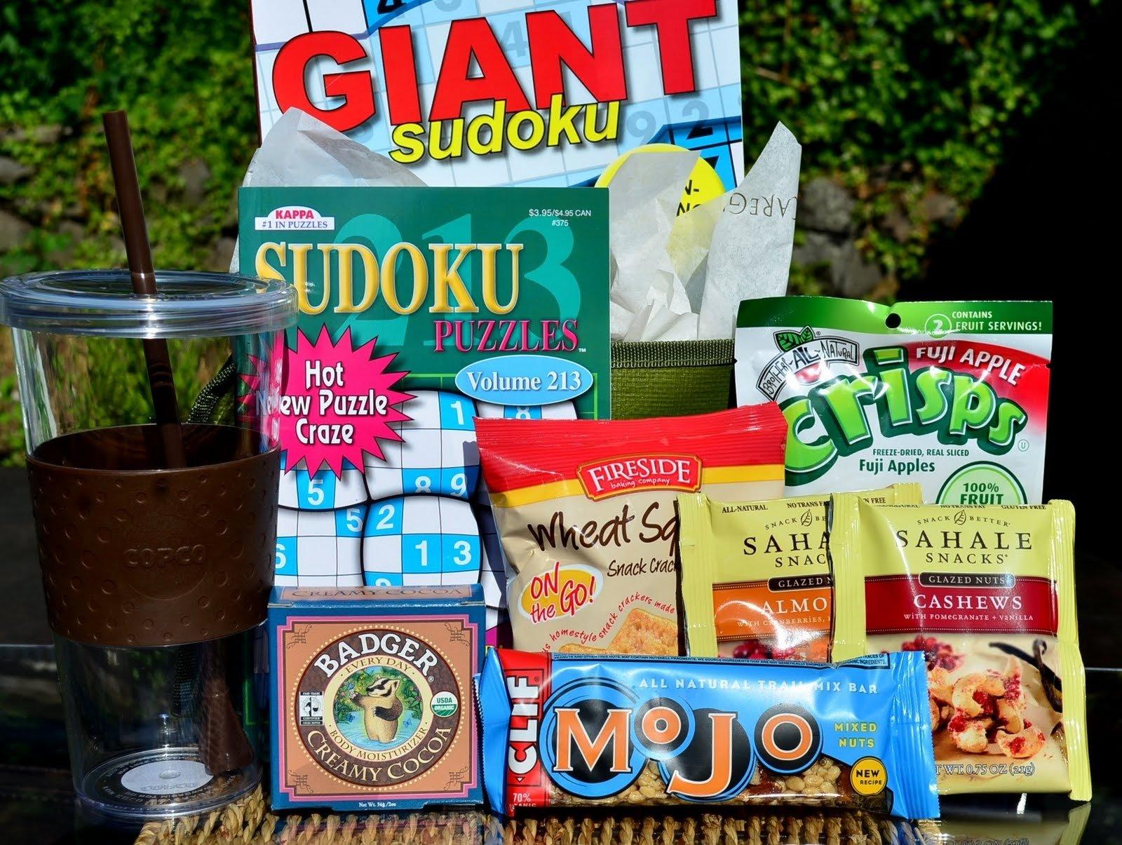 10 Elegant Food Gift Ideas For Men sudoku and snacks gift for men get well gifts for men pinterest 2 2020