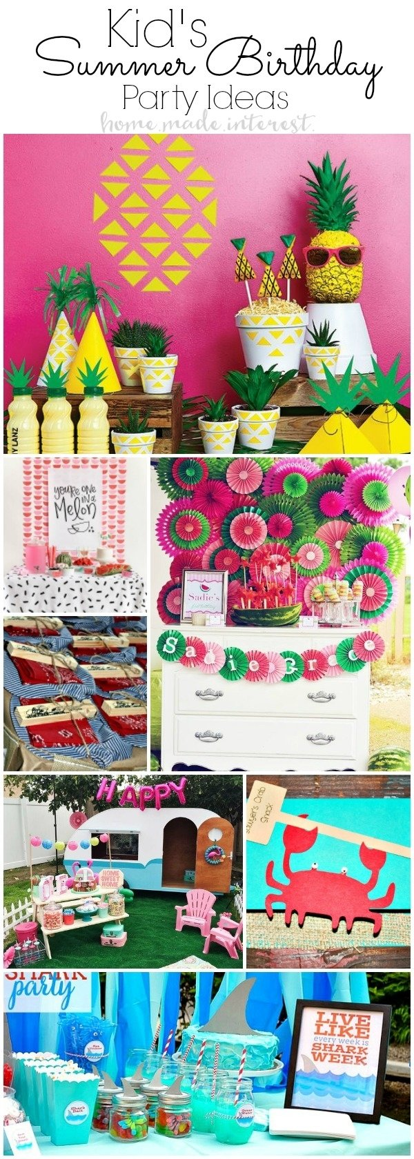 10 Lovable Summer Party Ideas For Adults summer birthday party ideas for kids home made interest 1 2020