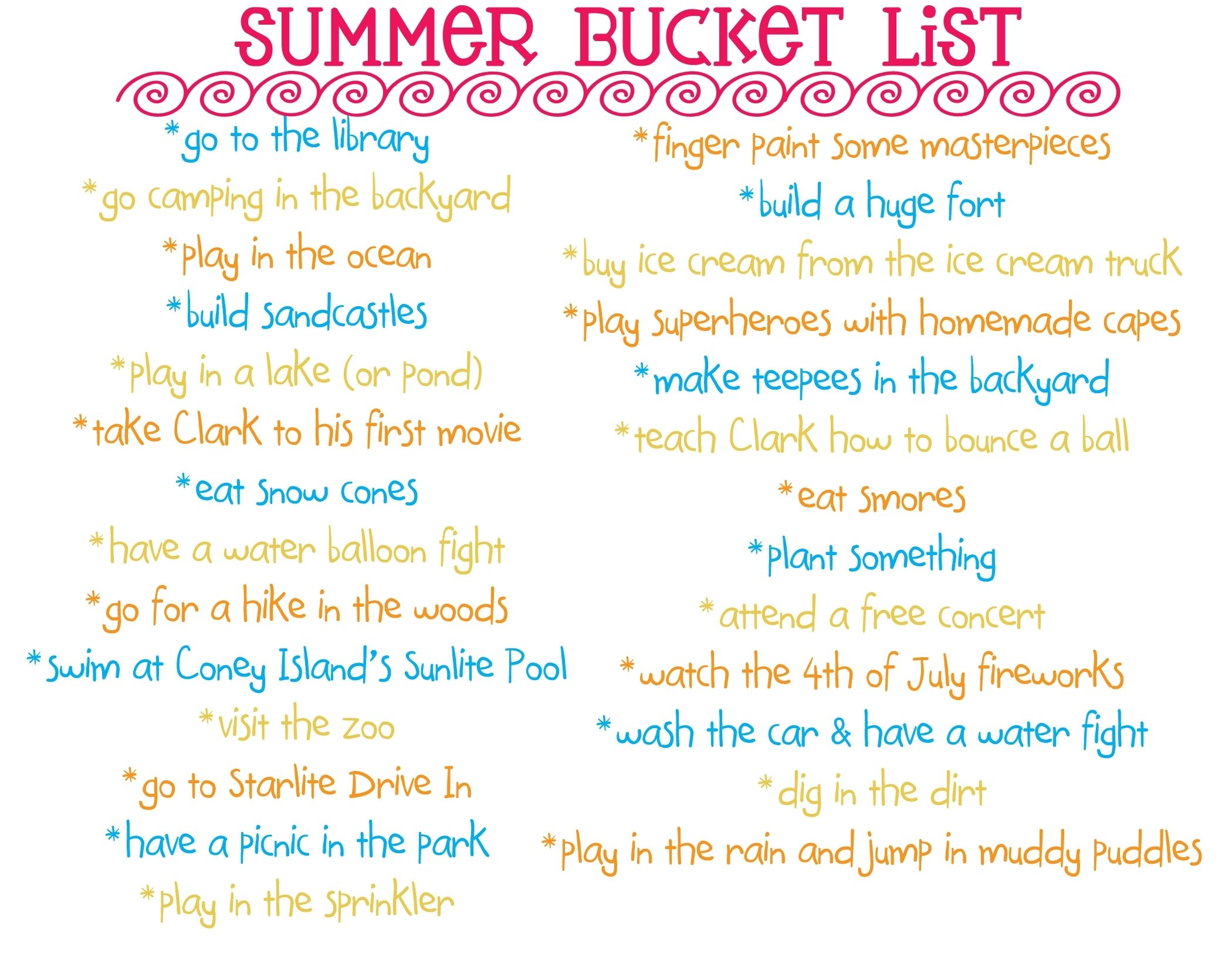 10 Attractive Fun Summer Bucket List Ideas summer bucket list 2012 two blue pillars 3 2020