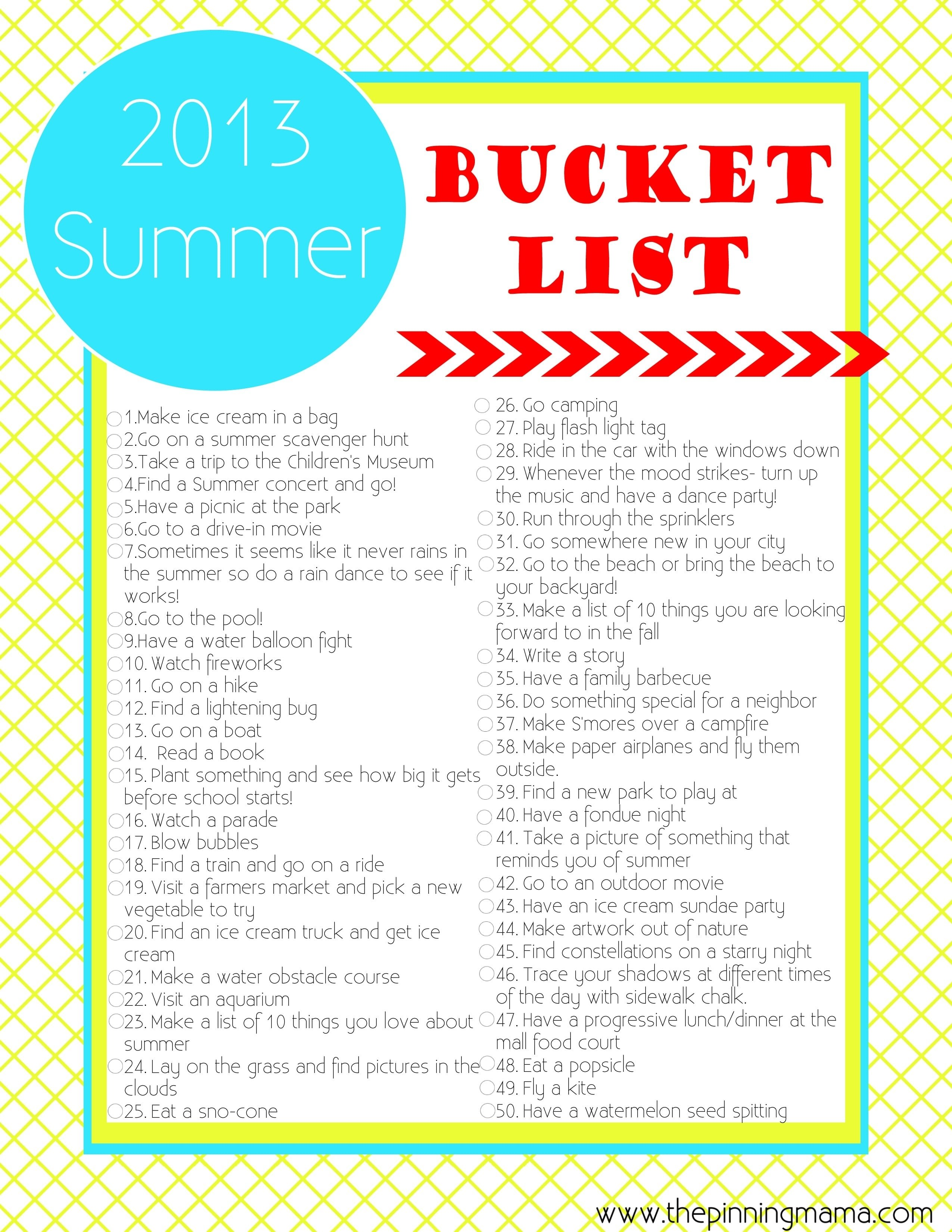 10 Amazing Summer Bucket List Ideas For Couples summer bucket list 50 summer ideas and activities for kids with 1 2020