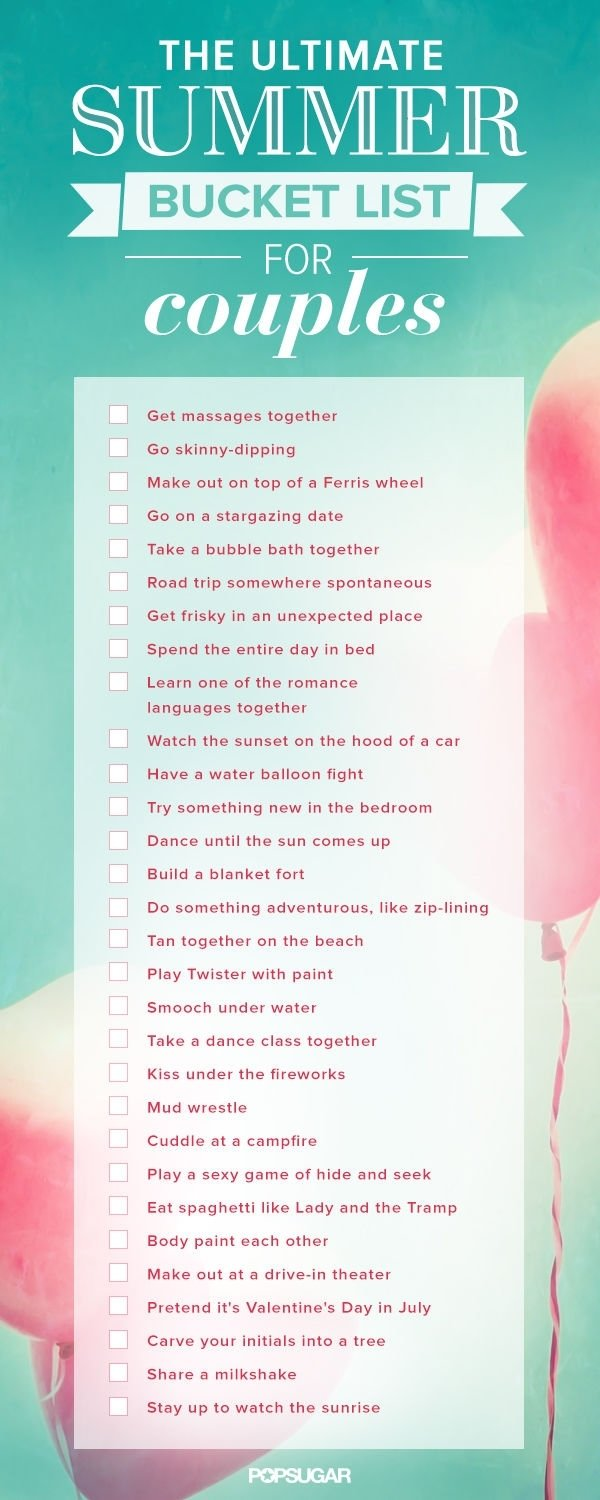 10 Amazing Summer Bucket List Ideas For Couples summer bucket list for couples love summer couples in love