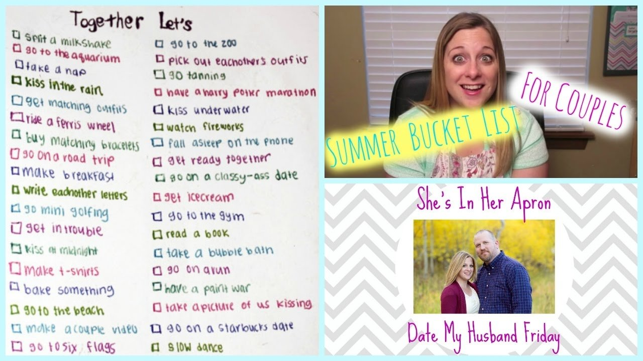 10 Amazing Summer Bucket List Ideas For Couples summer bucket list for couples youtube 2020