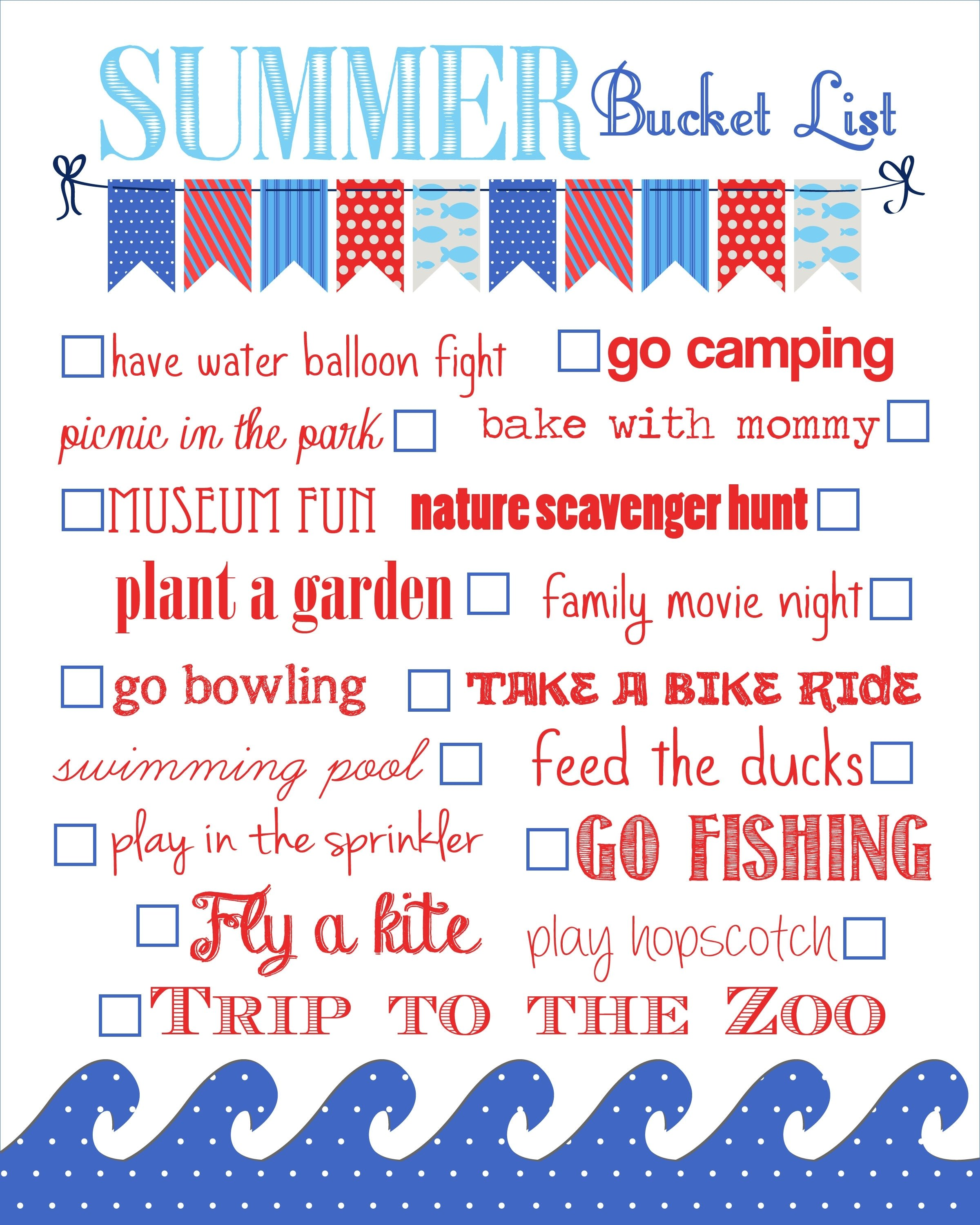 10 Attractive Fun Summer Bucket List Ideas summer bucket list free printable how to nest for less 2 2020