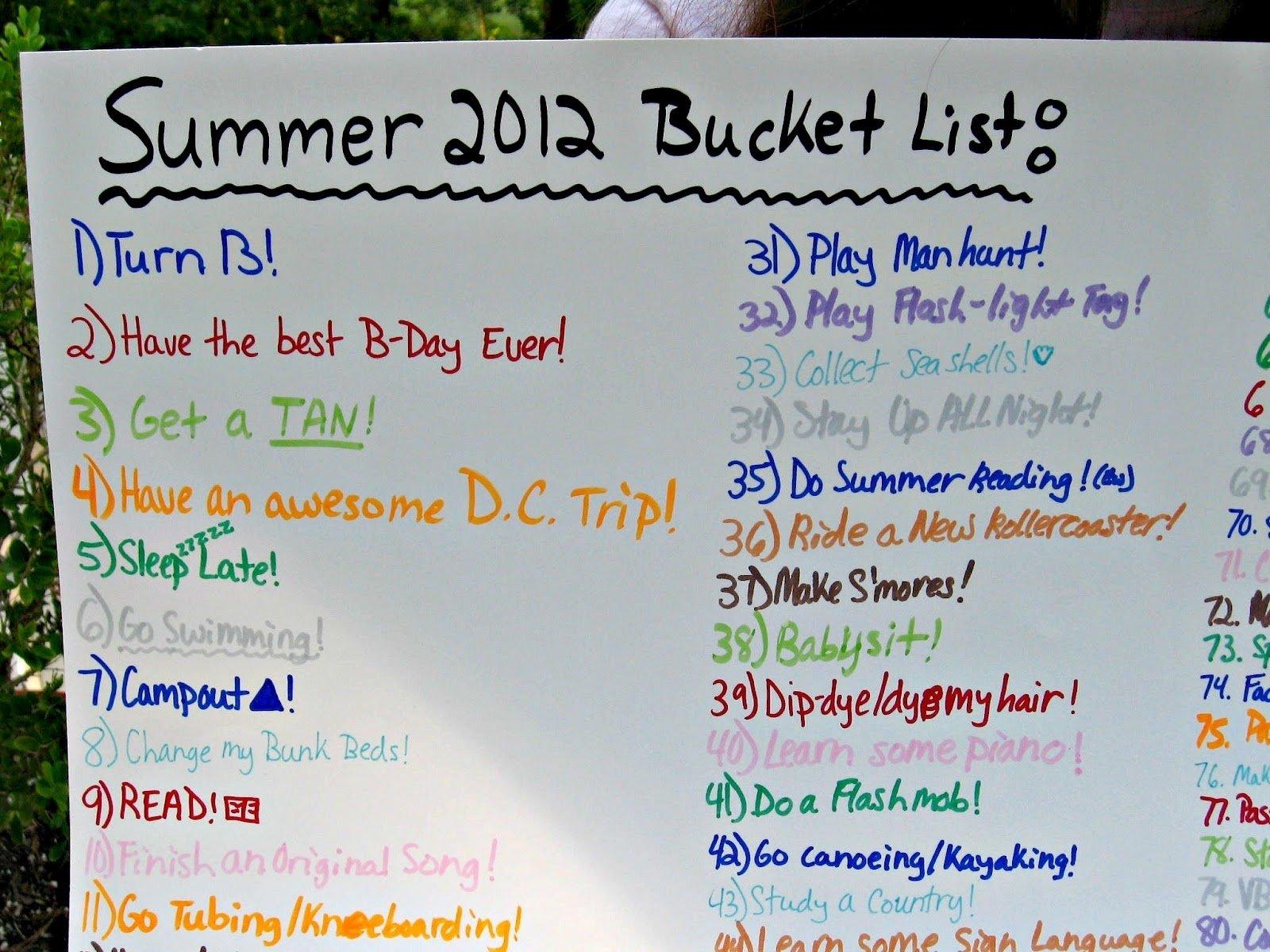 10 Spectacular Bucket List Ideas For Girls summer bucket list uncommon designs 1 2021