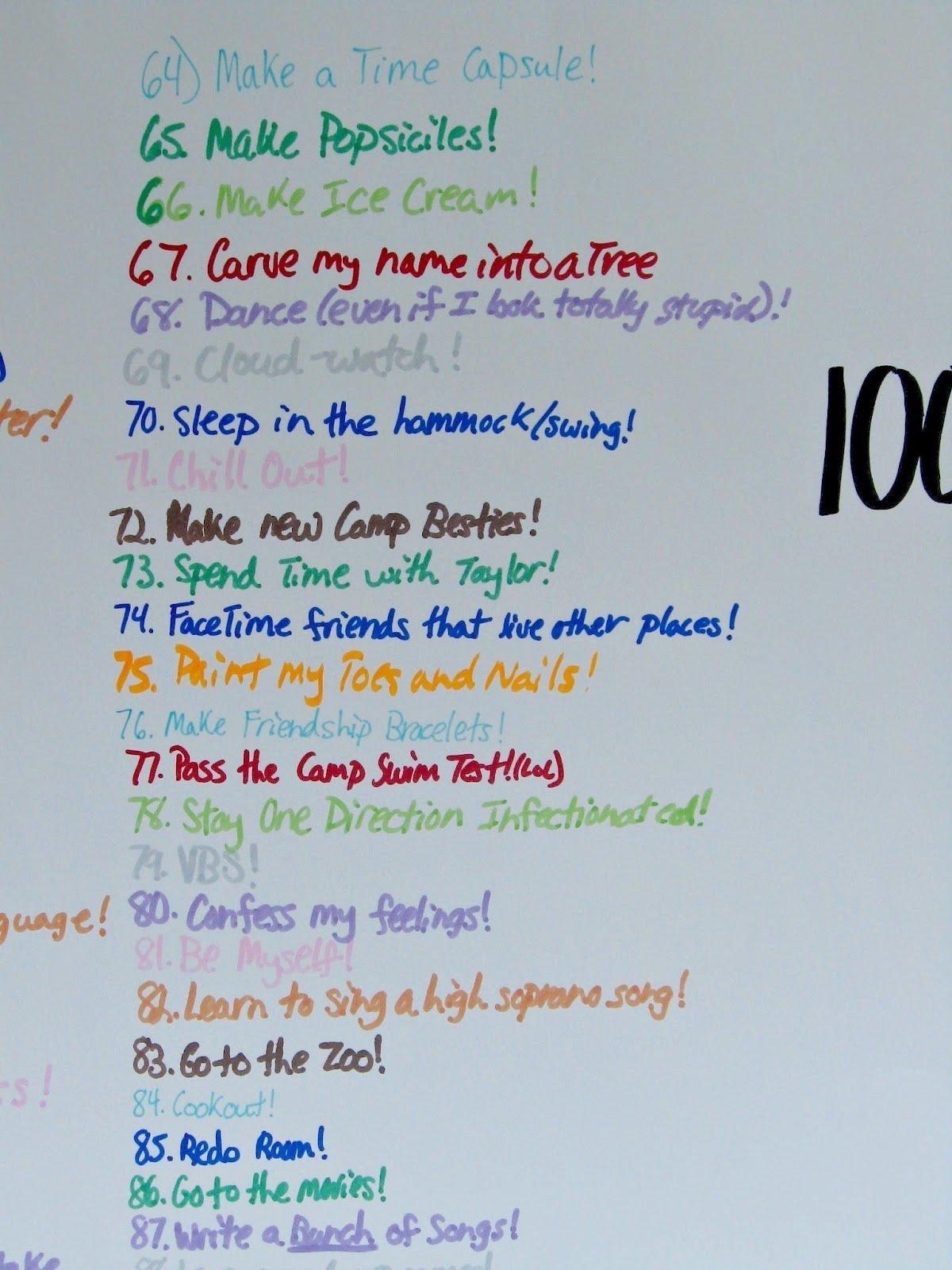 10 Spectacular Bucket List Ideas For Girls summer bucket list uncommon designs 2 2021