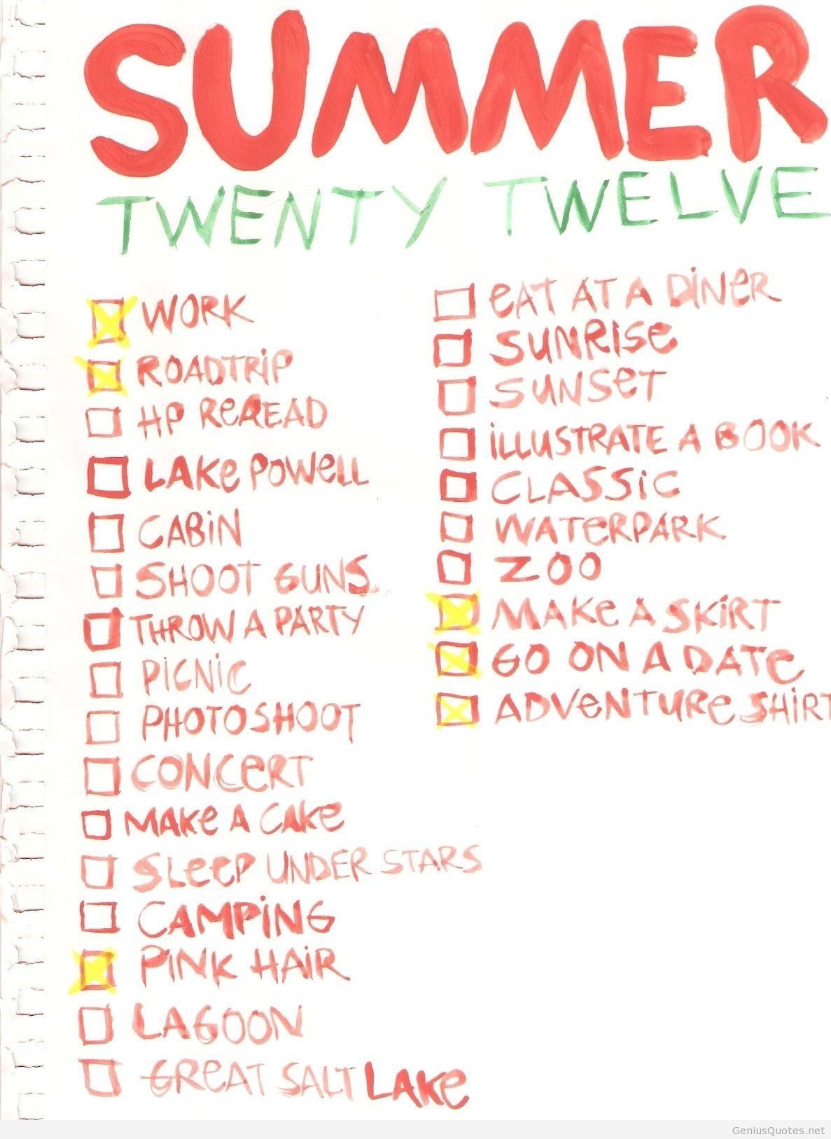 10 Amazing Summer Bucket List Ideas For Couples summer bucketlist quotes