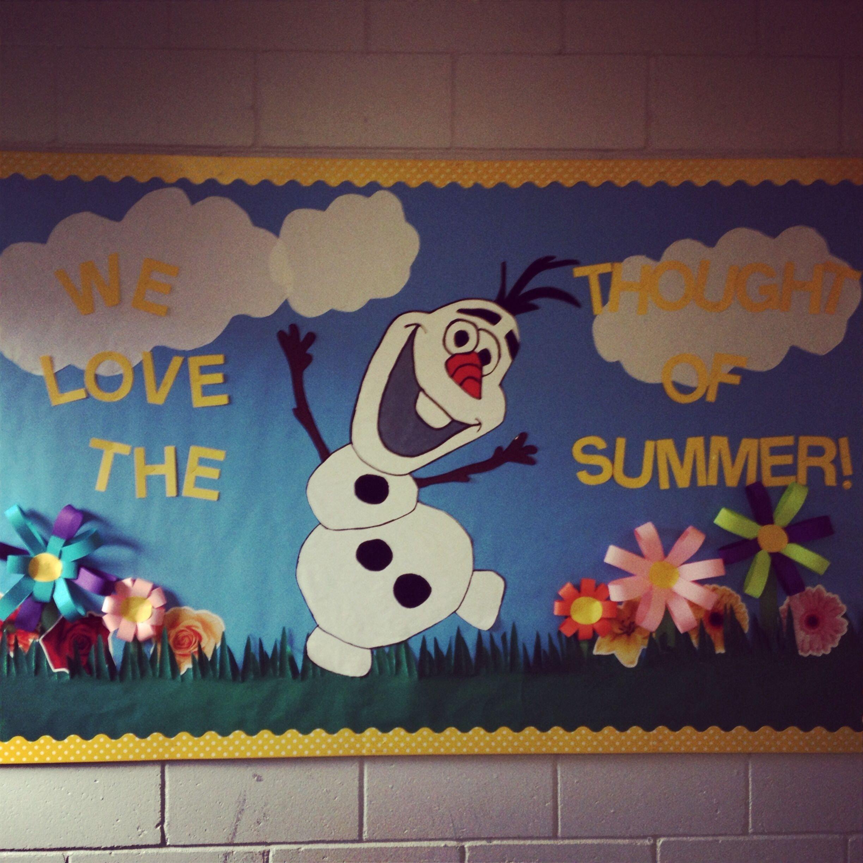 10 Stunning Bulletin Board Ideas For Summer summer bulletin board with olaf bulletin boards classroom decor 2021