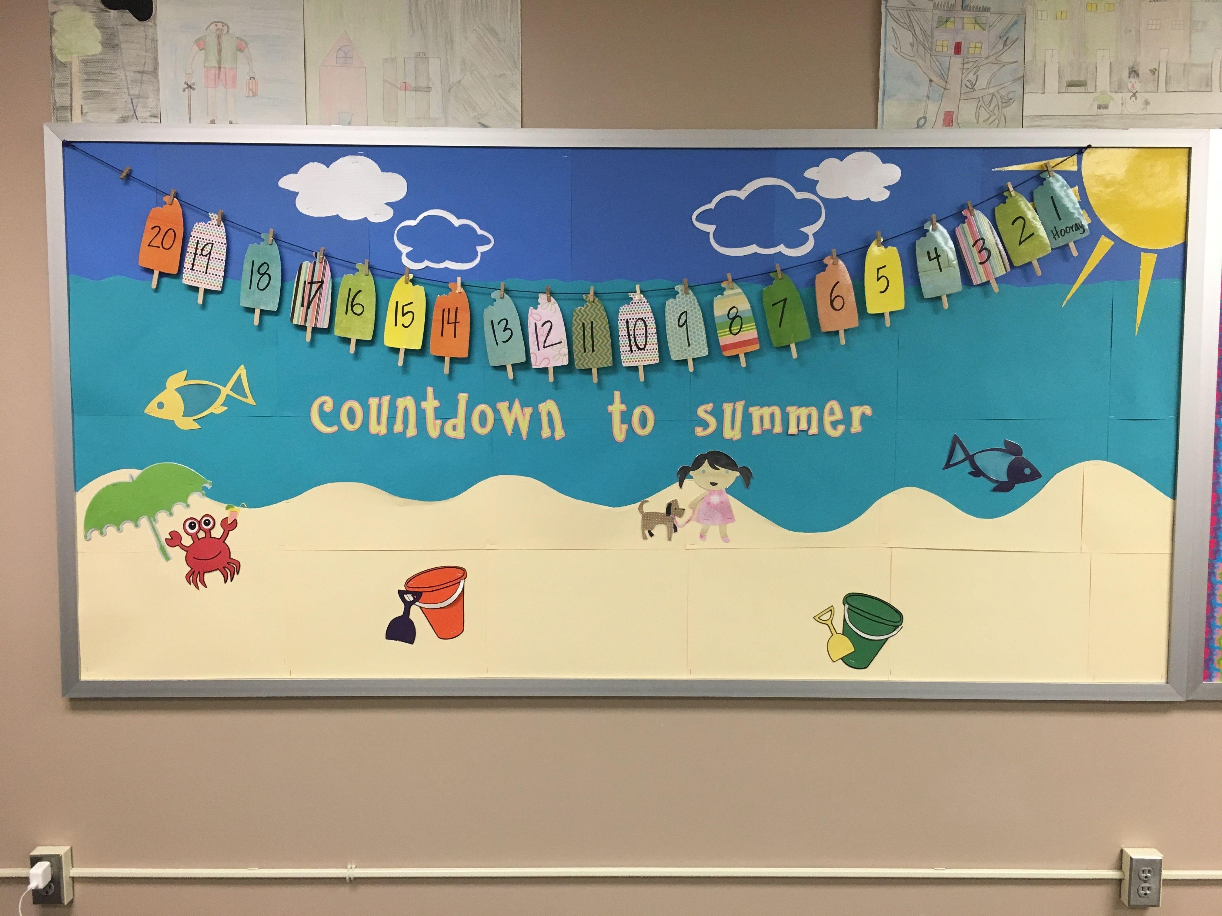 10 Stunning Bulletin Board Ideas For Summer summer countdown bulletin board bulletin boards pinterest 2021