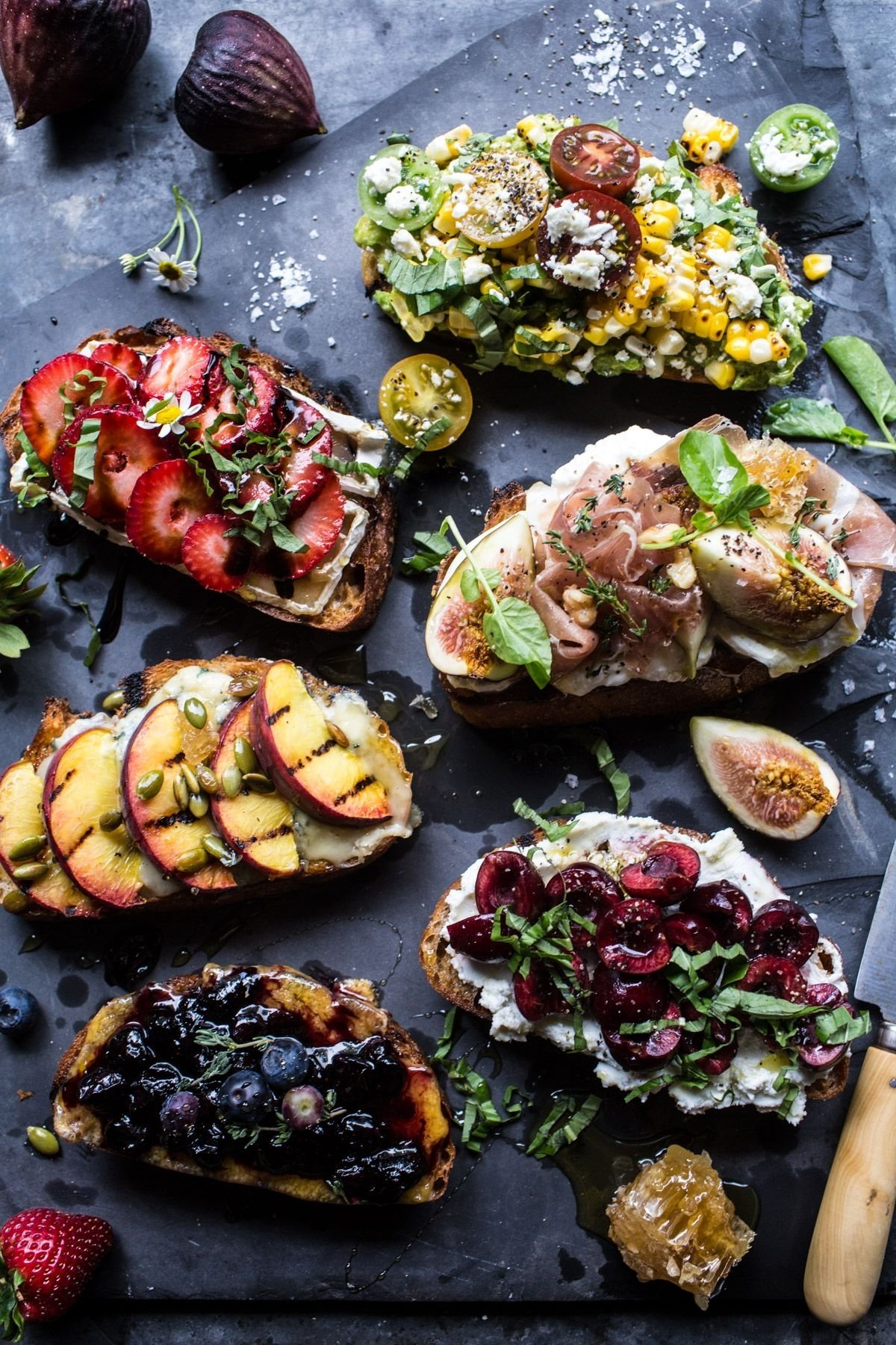 10 Stylish Summer Dinner Party Menu Ideas summer crostini 6 ways summer food and food and drink 1 2021