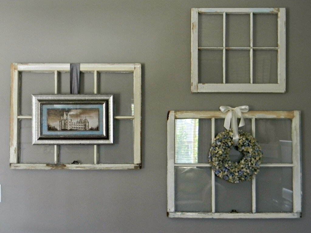 10 Famous Old Window Frame Decorating Ideas summer mantel andwhat to do with old windows mantle middle and 2021