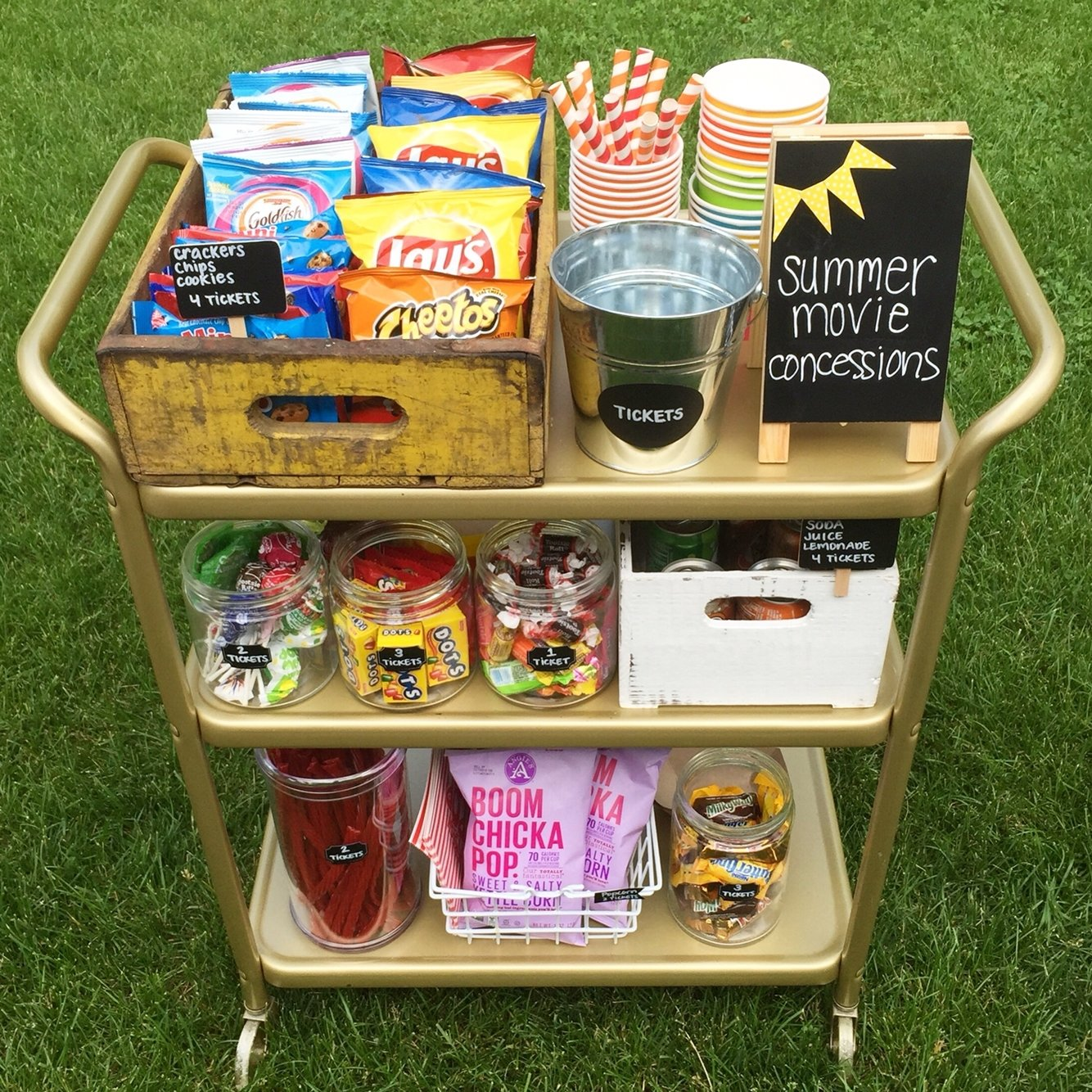 10 Most Popular Movie Night Ideas For Kids summer movie concession stand celebrating summer pinterest 2021