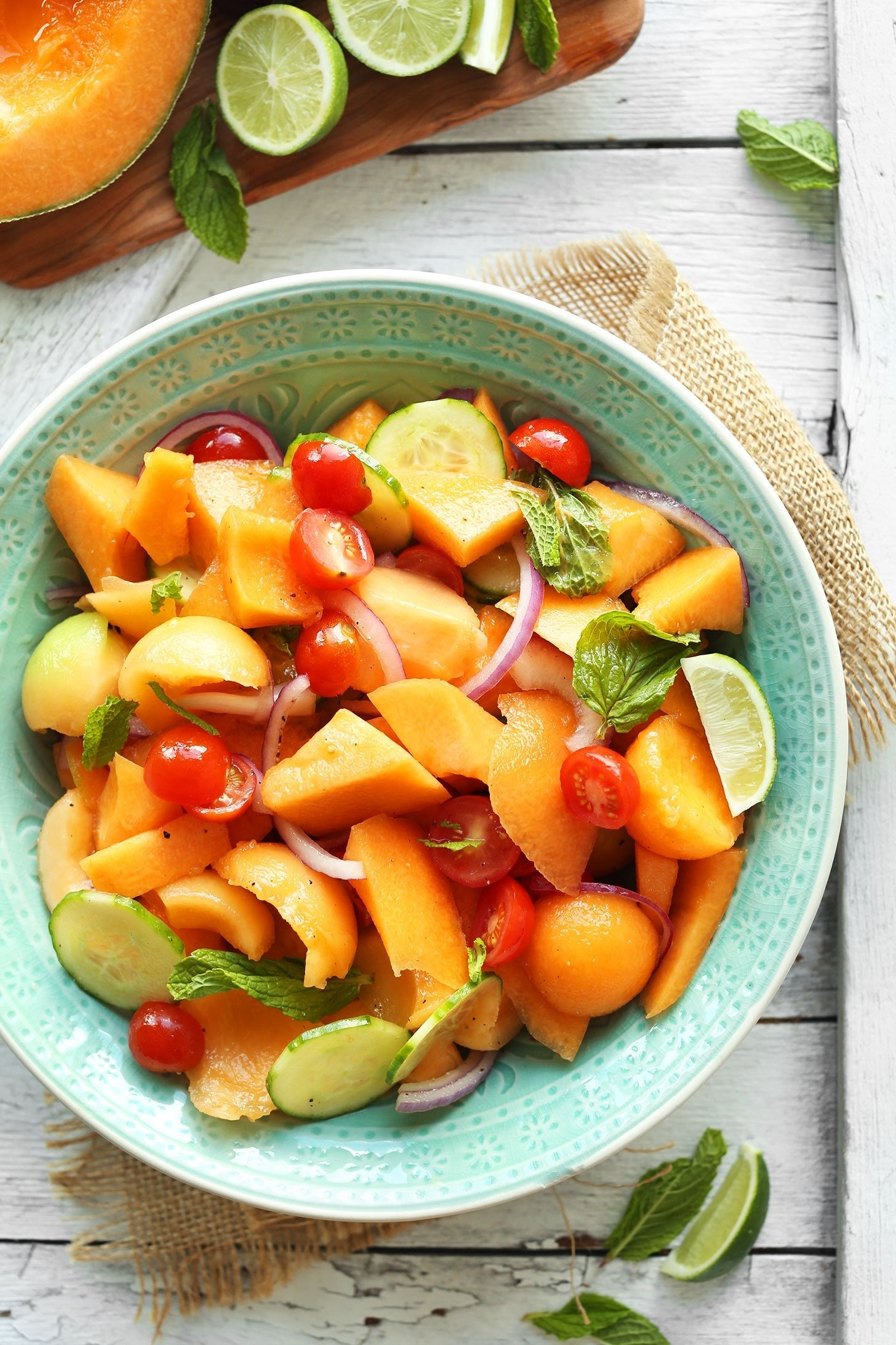 10 Famous Light Dinner Ideas For Summer summer tomato cantaloupe salad recipe 2020