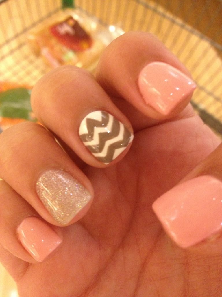 10 Stylish Easy Nail Ideas For Summer summertime nail designs downloadcute summer nails chevron design 2 2020