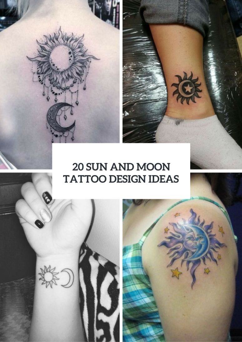 sun and moon tattoo ideas for ladies | tatoo | pinterest | moon