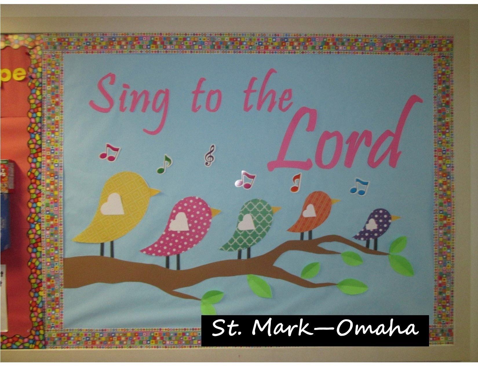 10 Ideal Sunday School Bulletin Board Ideas sunday school bulletin board a nice musical themed one for spring 2021