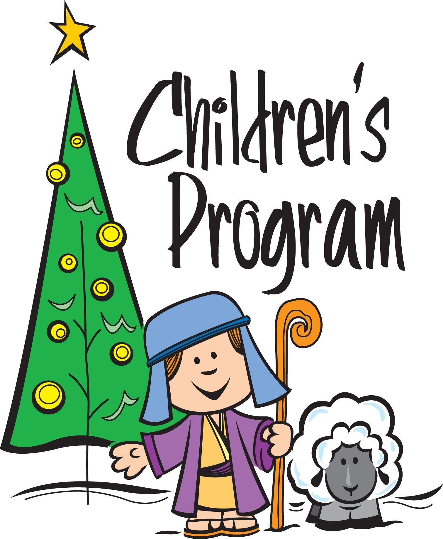 sunday school christmas program clipart