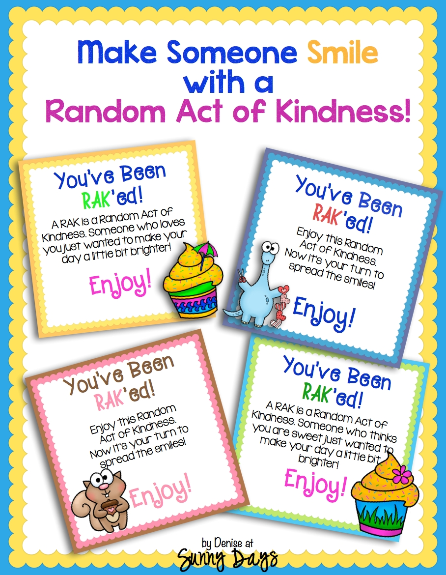 10 Stunning Random Acts Of Kindness Ideas For School sunny days in second grade random acts of kindness summer fun