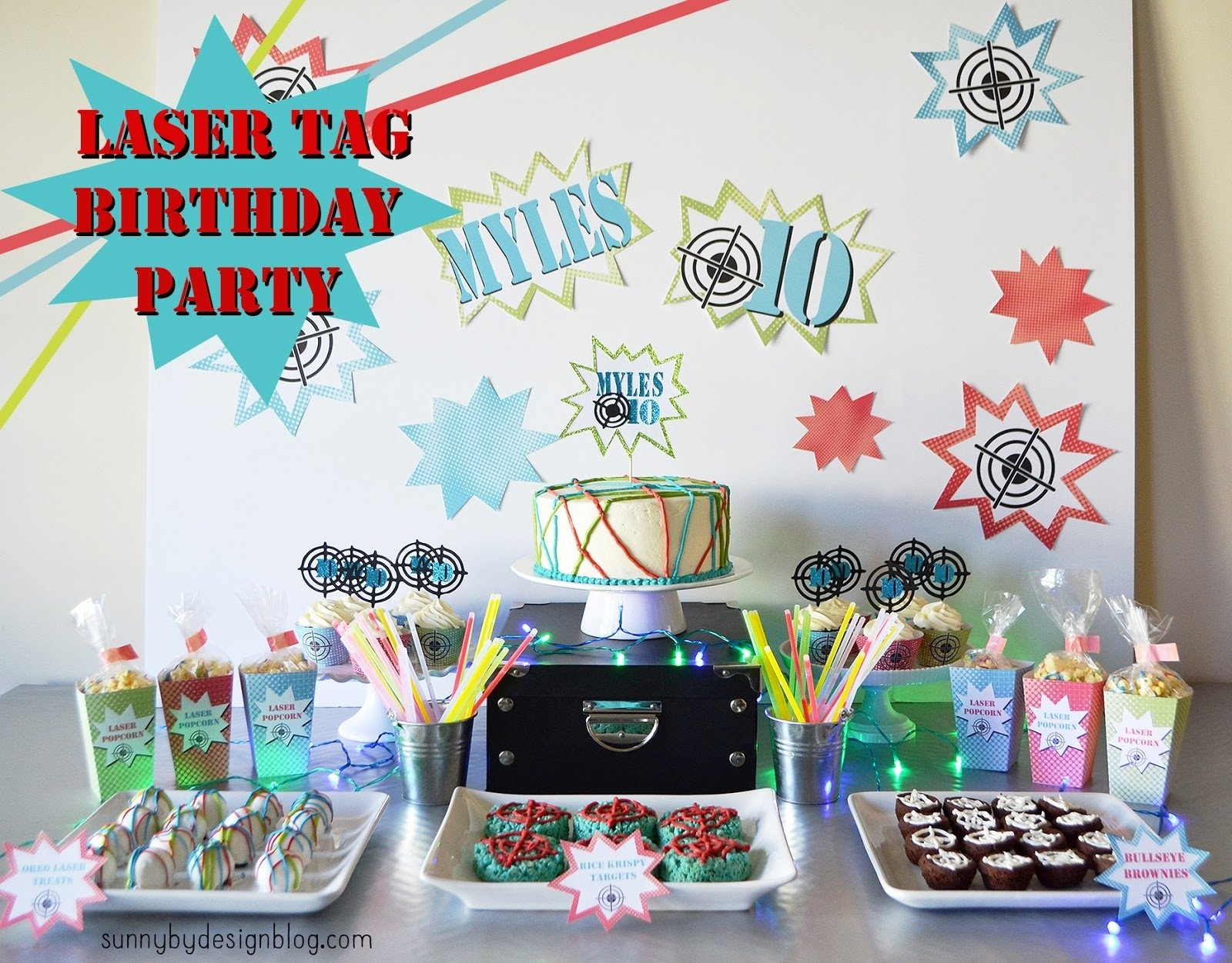 10 Spectacular Laser Tag Birthday Party Ideas sunnydesign laser tag birthday party