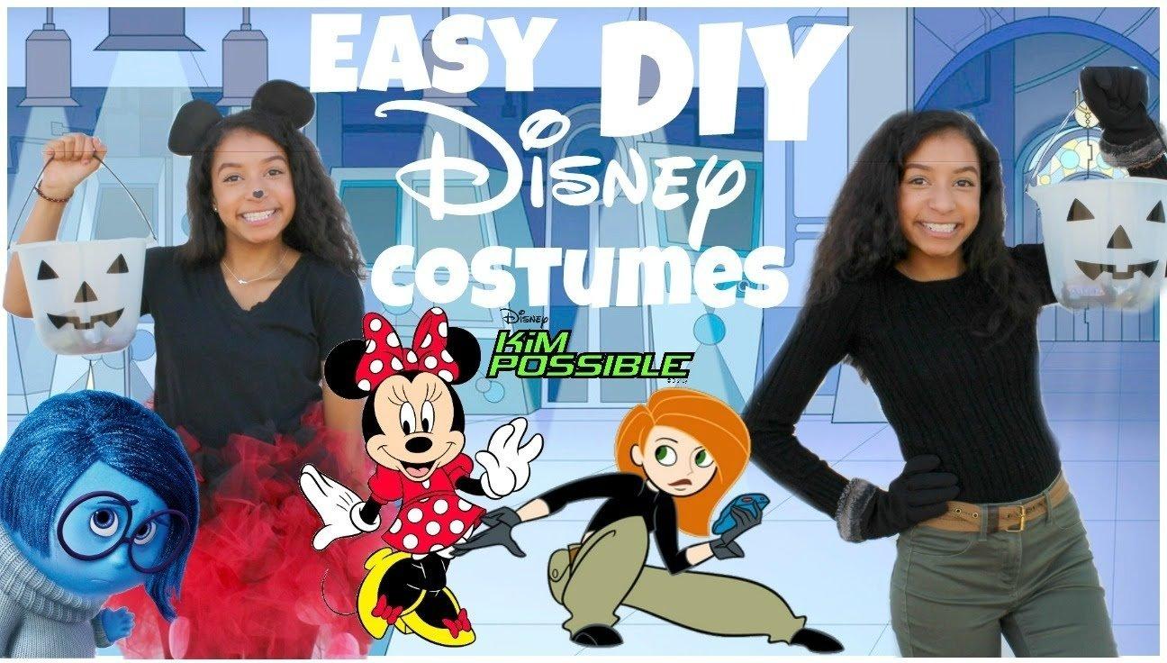 10 Beautiful Disney Character Dress Up Ideas super easy diy disney halloween costumes 2015 youtube 2020