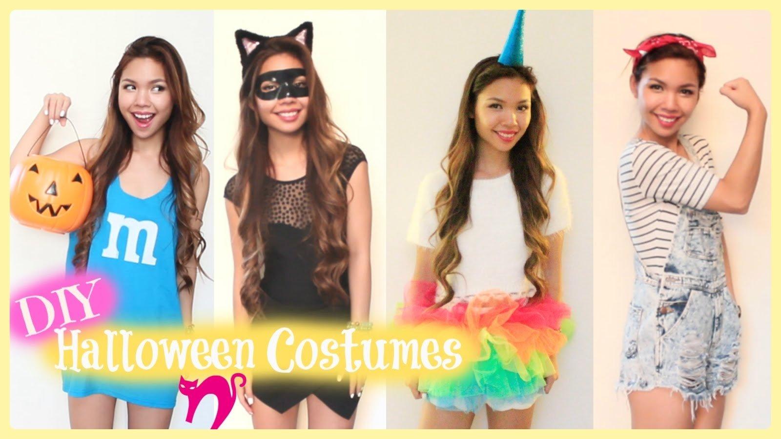 10 Unique Cute Last Minute Costume Ideas super easy last minute diy halloween costumes 2014 youtube 7 2020