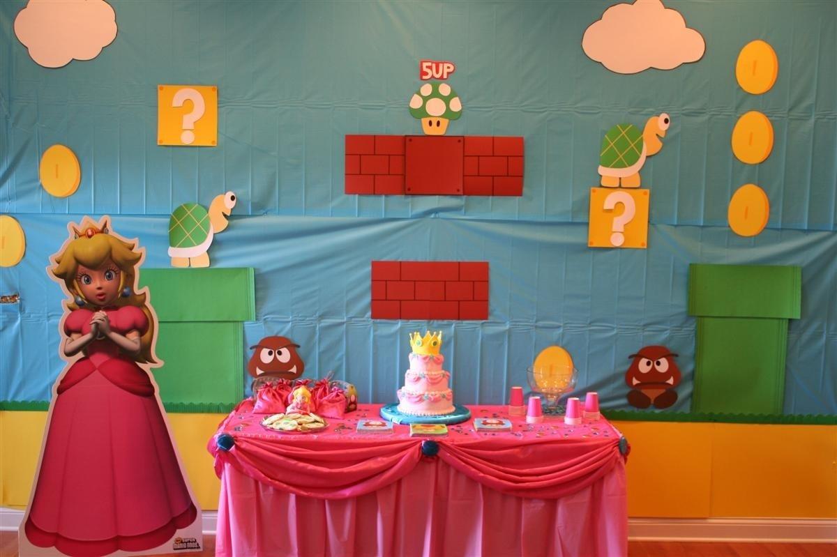 10 Stylish Super Mario Bros Birthday Party Ideas super mario birthday party featuring princess peach chica and jo 4 2020