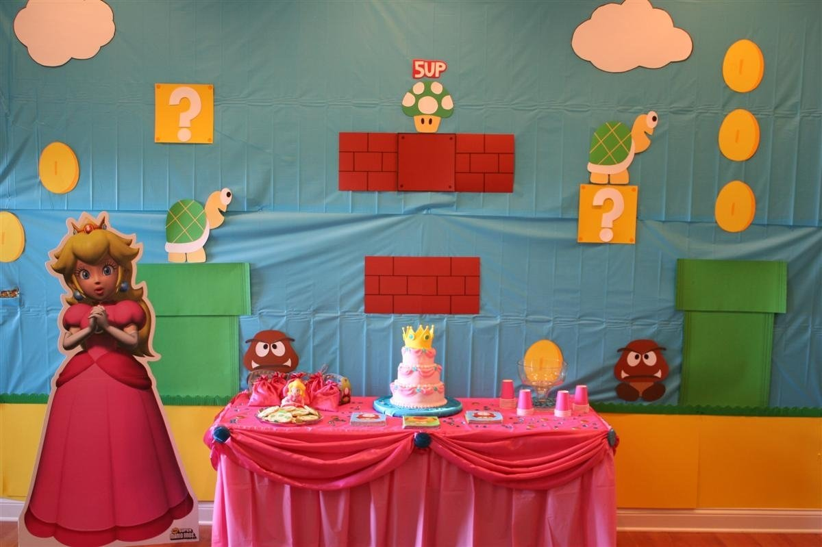 10 Spectacular Mario Brothers Birthday Party Ideas super mario birthday party featuring princess peach chica and jo 5 2020