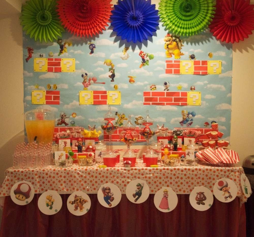 10 Fabulous Super Mario Brothers Birthday Party Ideas super mario bros birthday party ideas photo 6 of 18 catch my party 2020