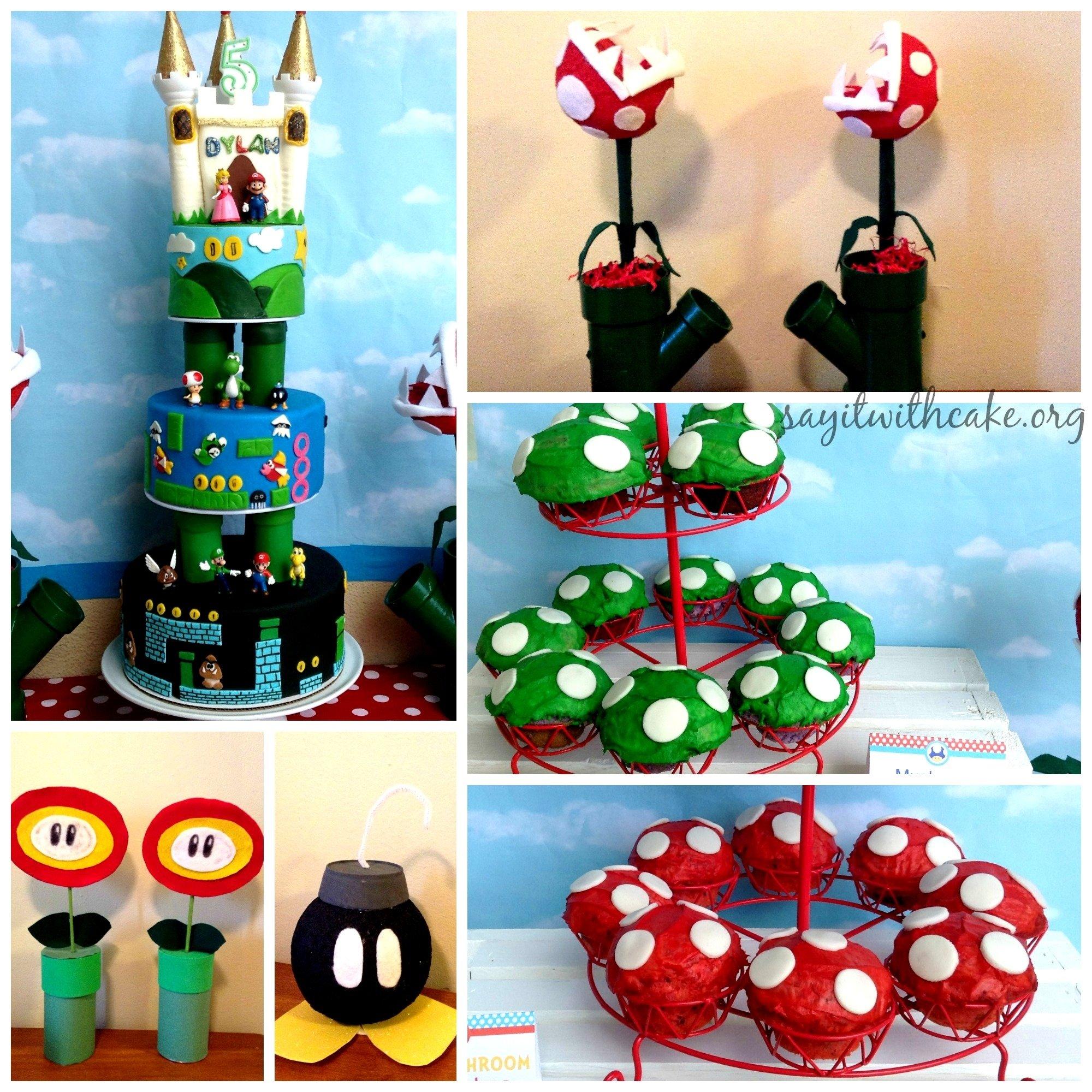 10 Famous Super Mario Bros Party Ideas super mario bros party say it with cake 2021