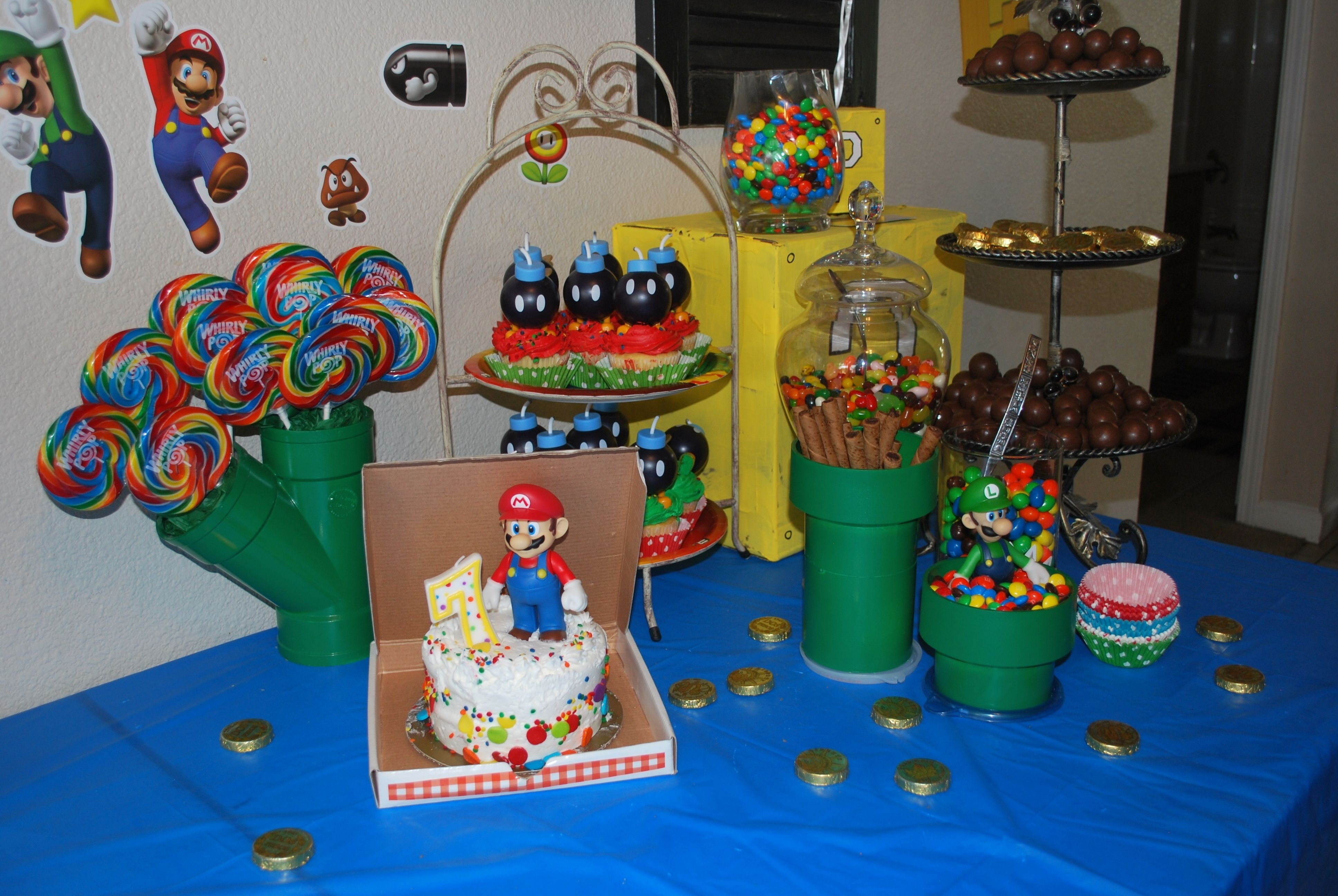 10 Spectacular Mario Brothers Birthday Party Ideas super mario brothers birthday party party ideas pinterest 2020