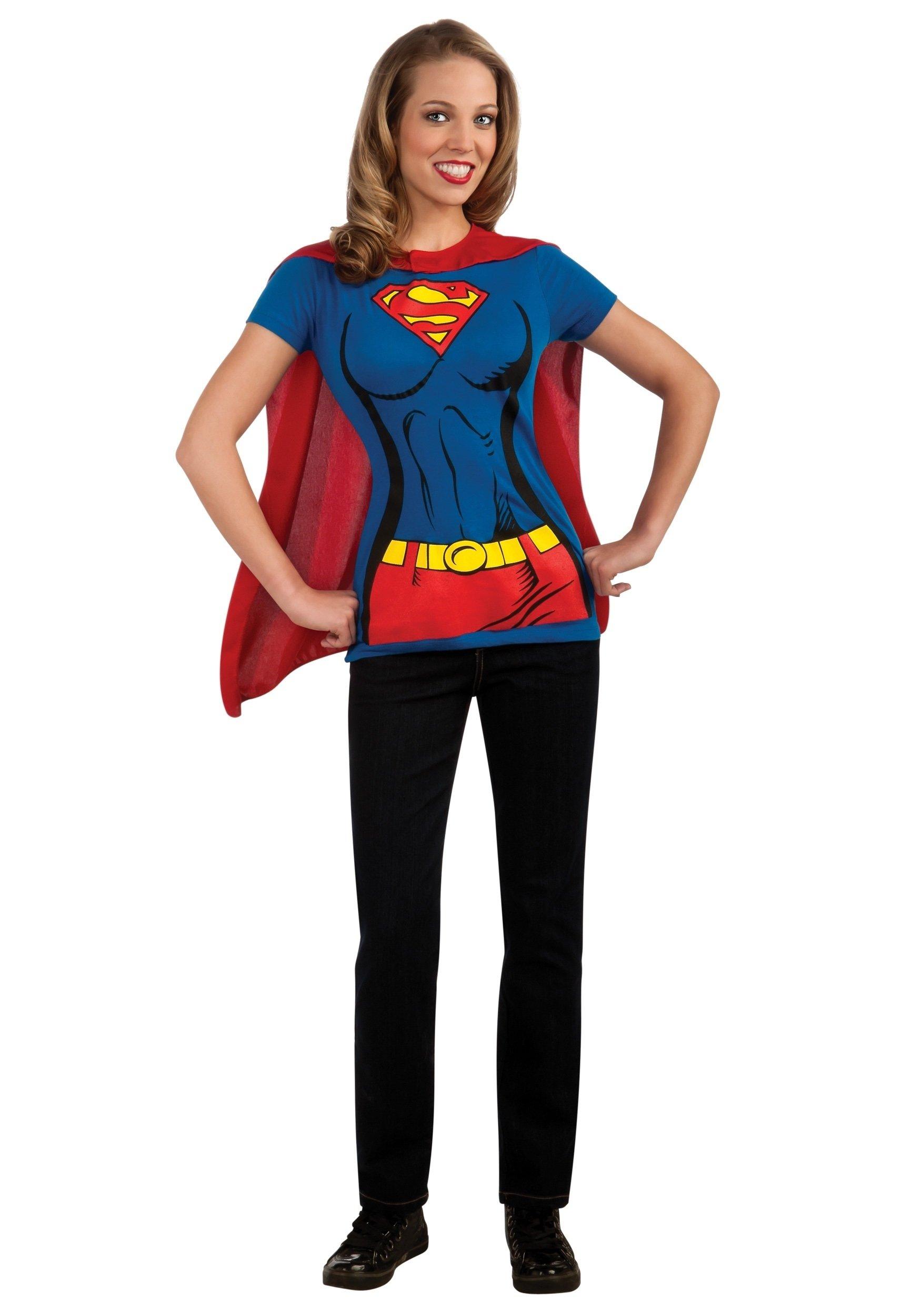 10 Stylish Superhero Costume Ideas For Women supergirl t shirt costume 2020