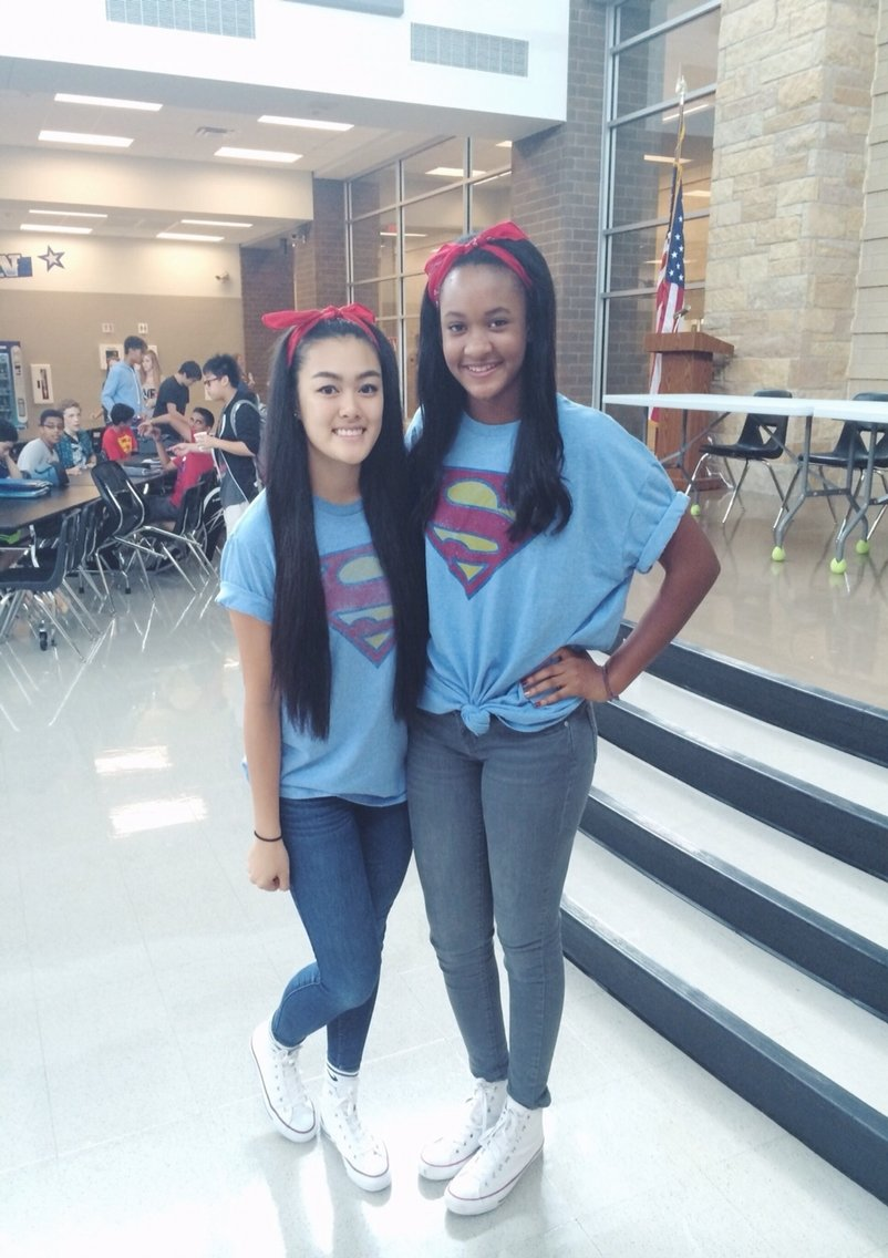 10 Pretty Cute Ideas For Twin Day At School superhero day twin day dress up day superman my life