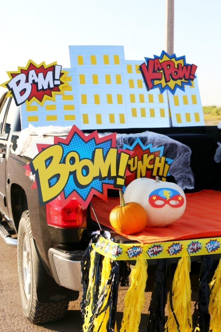 10 Awesome Trunk Or Treat Ideas For Trucks superhero halloween trunk or treat ideas diy skyline child at 1