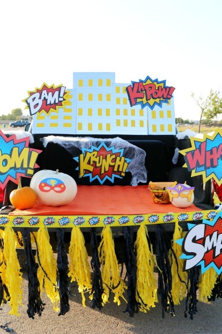10 Nice Halloween Trunk Or Treat Ideas superhero halloween trunk or treat ideas diy skyline child at 4 2020