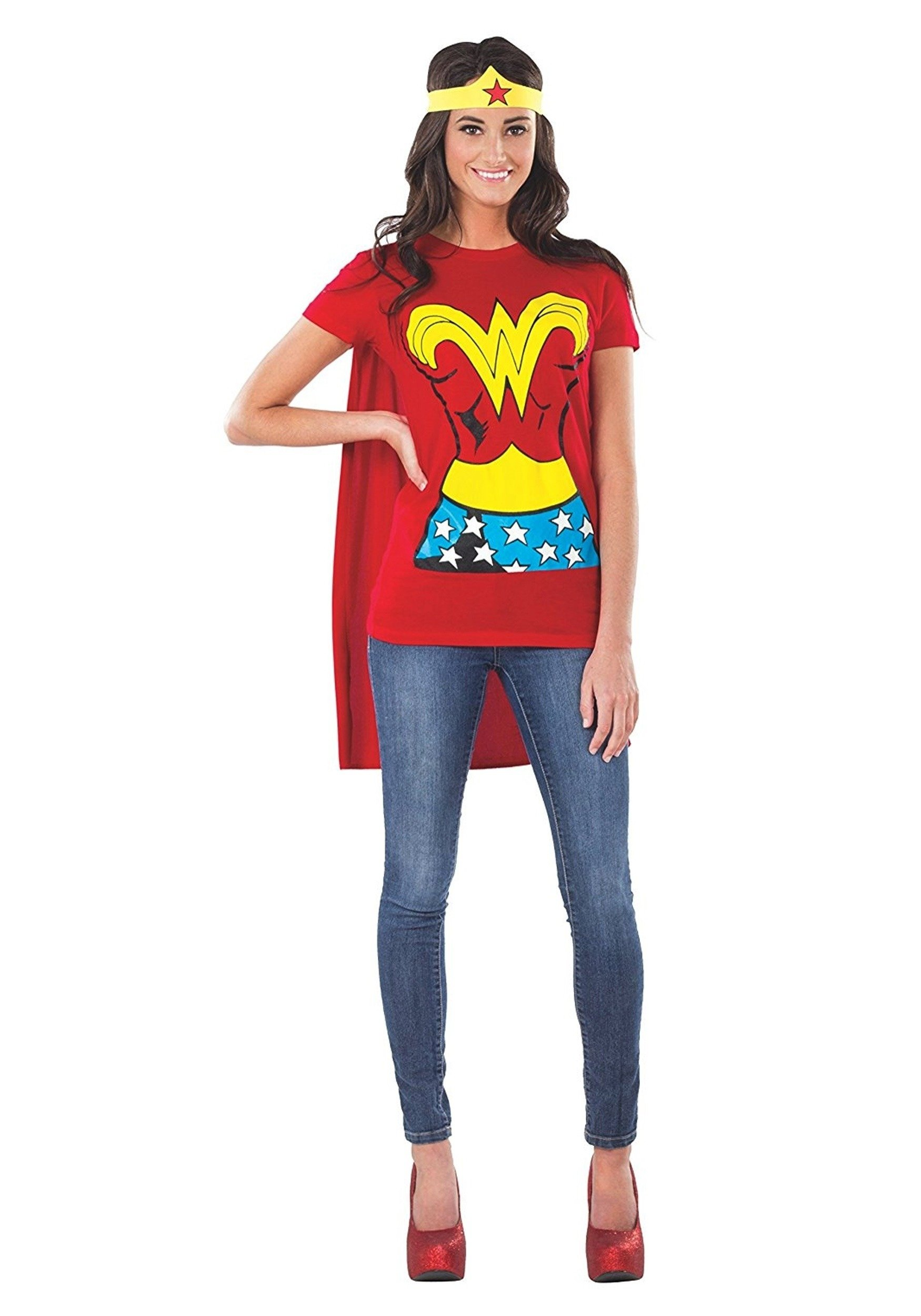 10 Stylish Superhero Costume Ideas For Women superhero wonder woman t shirt costume womens superhero costume ideas 2020