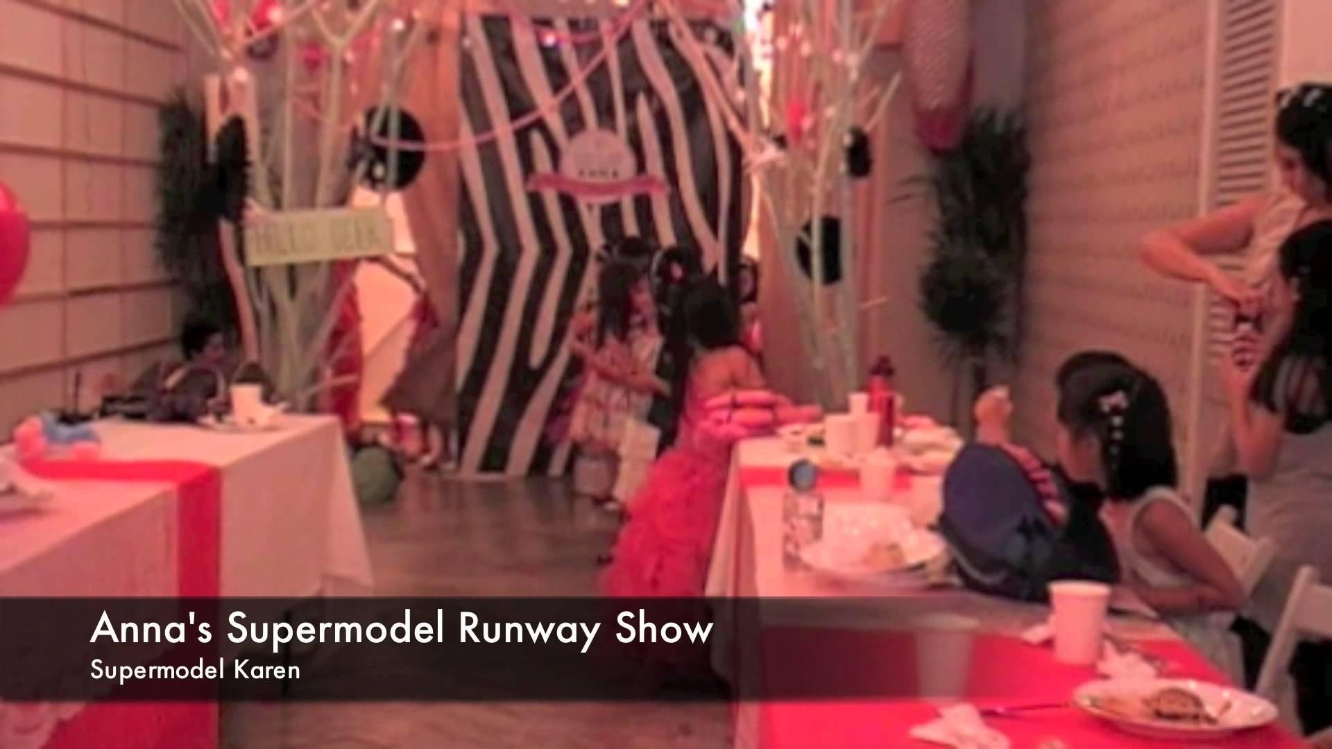10 Unique Fashion Show Birthday Party Ideas supermodel runway fashion show annas 7th birthday party youtube