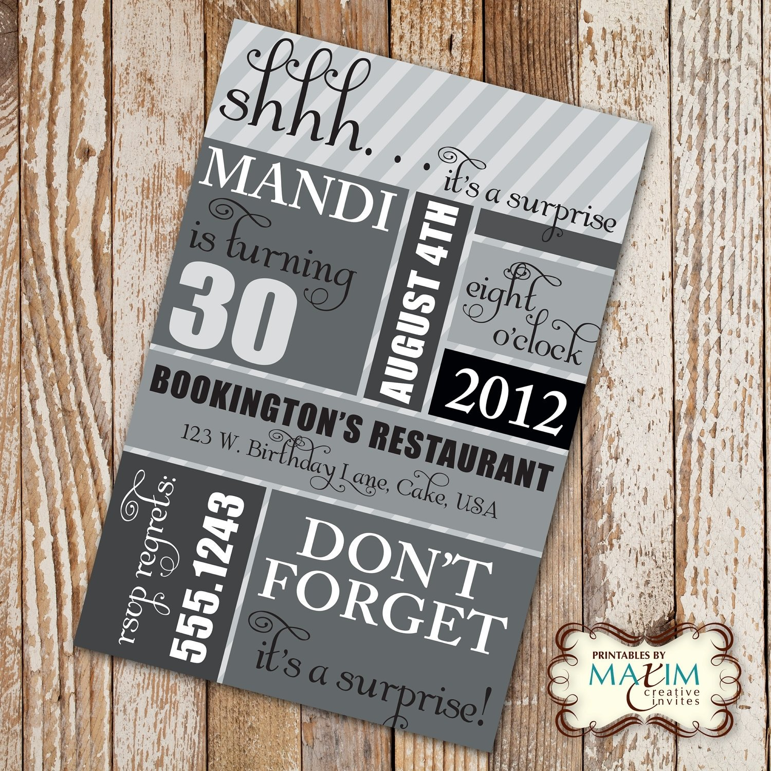 10 Most Recommended Surprise 30Th Birthday Party Ideas surprise 30th birthday party invitations dolanpedia invitations