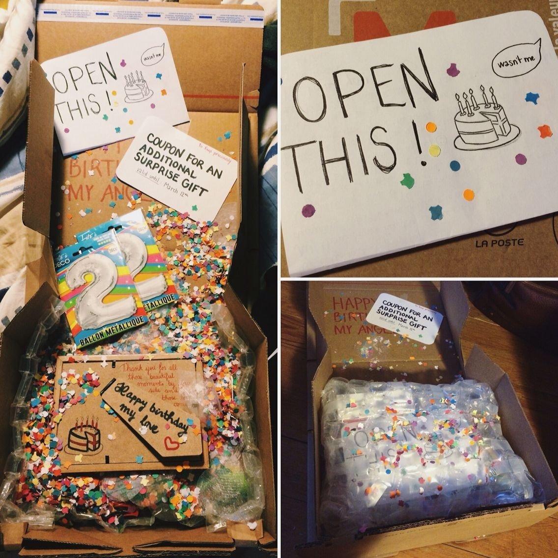 10 Stylish Surprise Birthday Ideas For Boyfriend surprise birthday package for my ldr boyfriend pinteres 3 2020