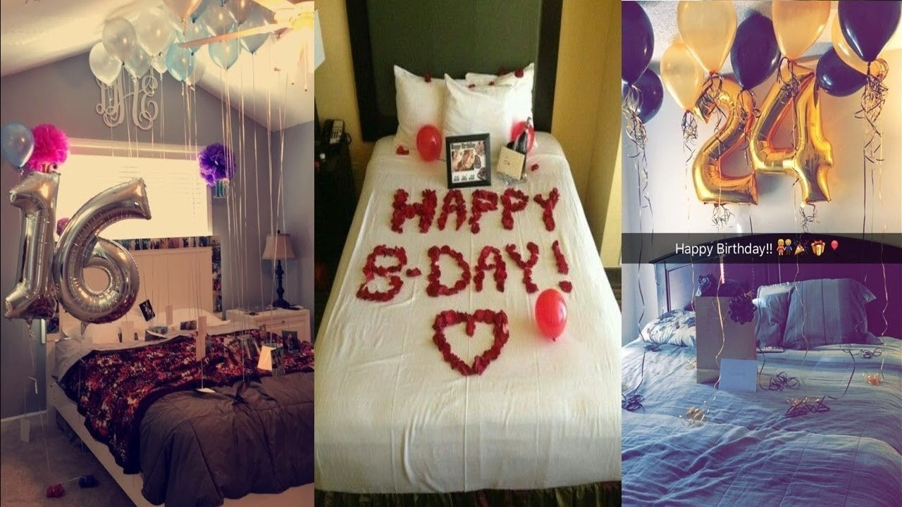 10 Famous Surprise Birthday Ideas For Husband surprise room decoration for boyfriend husband birthday room 2020