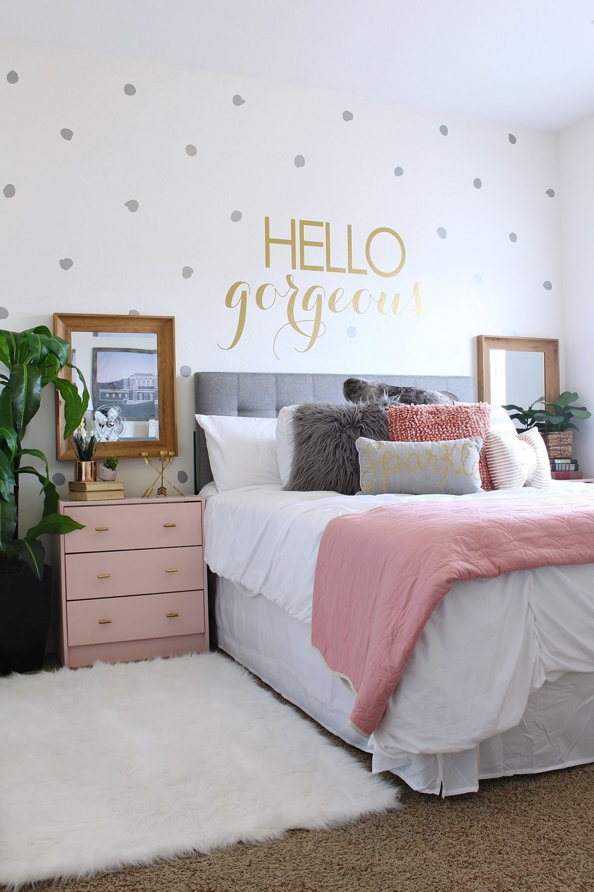 surprise teen girl's bedroom makeover | teen room makeover, polka